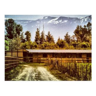Cartão da estrada do rancho de Visalia