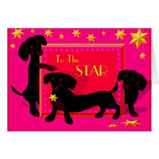 Cartão da estrela de Doxie