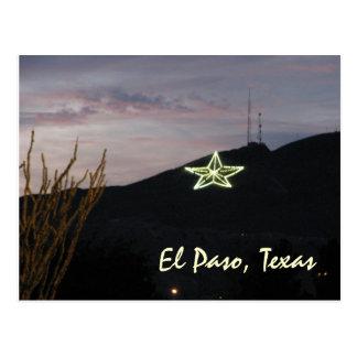 Cartão da estrela de El Paso