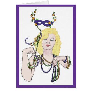Cartão da estrela do carnaval