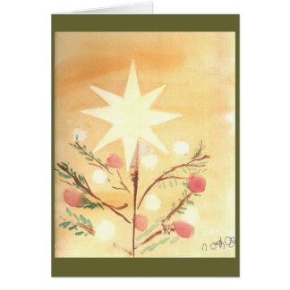 Cartão da estrela do Natal de Folkart