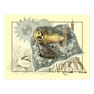 Cartão da excursão do ar do Dirigible de Steampunk