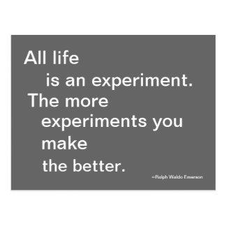 Cartão da experiência da vida citável