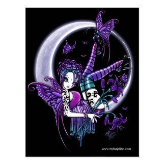 Cartão da fada da flor da lua do tatuagem de Paige