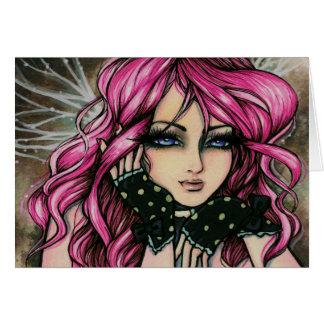 """Cartão da fada de """"Genevieve"""" Steampunk"""