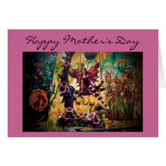 Cartão da fada do dia das mães