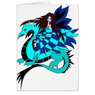 cartão da fada do dragão