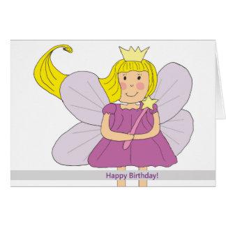 Cartão da fada do feliz aniversario