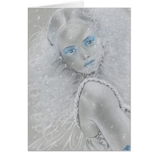Cartão da fada do floco de neve