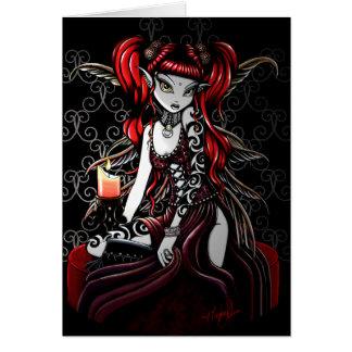 Cartão da fada do fogo da escuridão do Terra