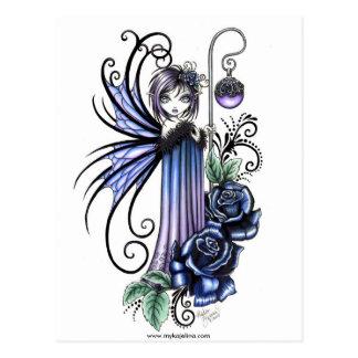 Cartão da fada do rosa do azul de Magdalene