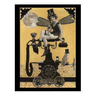 Cartão da fada do telefone de Steampunk