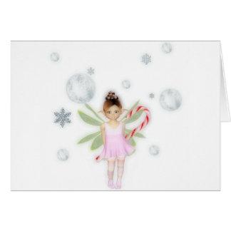 Cartão da fada dos doces do Natal