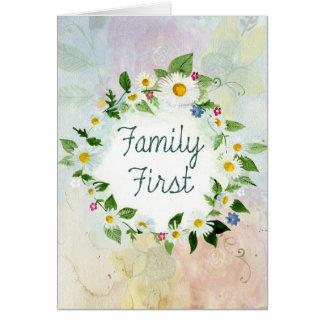 Cartão Da família citações inspiradas primeiramente