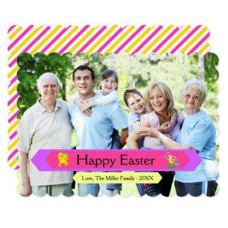 Cartão da família do felz pascoa