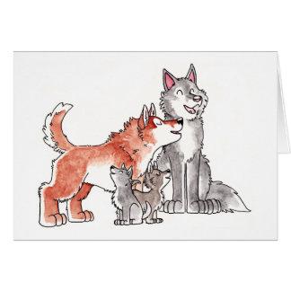 Cartão da família do lobo
