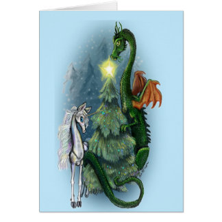 Cartão da fantasia da árvore de Natal