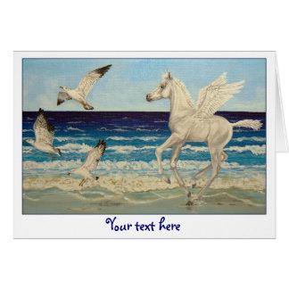 Cartão da fantasia do cavalo de Pegasus & das