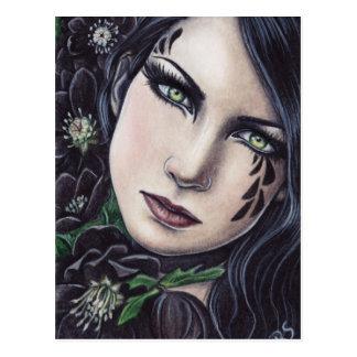 Cartão da fantasia do Hellebore preto