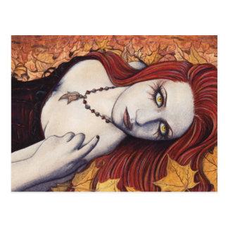 Cartão da fantasia do outono