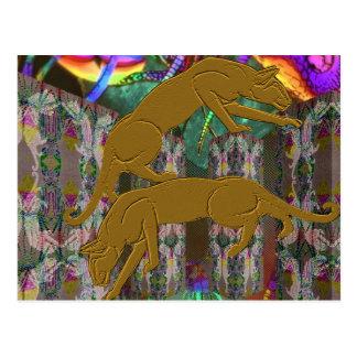 Cartão da fantasia do puma