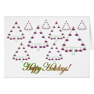 Cartão da fazenda de árvore do Natal do futebol