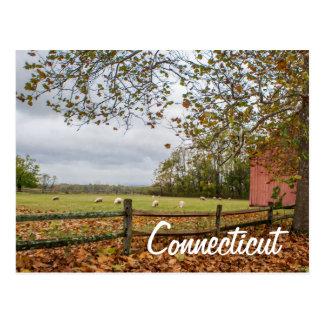 Cartão da fazenda do país de Connecticut