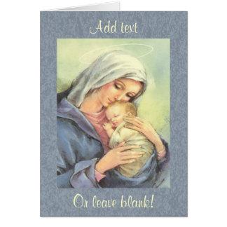 Cartão da fé de Jesus do bebê de Mary da mãe