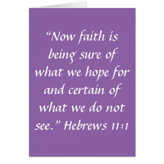 """Cartão da """"fé"""" (vazio para dentro)"""