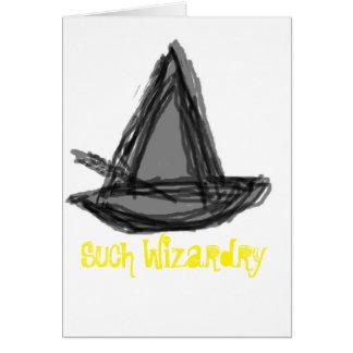 Cartão da feitiçaria das felicitações