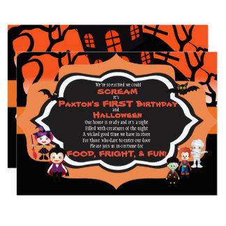 Cartão da festa de aniversário do miúdo do convite