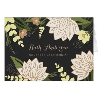 Cartão da festa de casamento de Lotus branco
