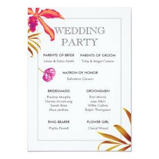 Cartão da festa de casamento do jardim da orquídea