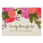 Cartão da festa de casamento do jardim do vintage