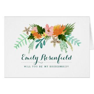 Cartão da festa de casamento do litoral