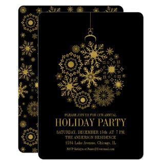 Cartão da festa natalícia do ornamento do floco de