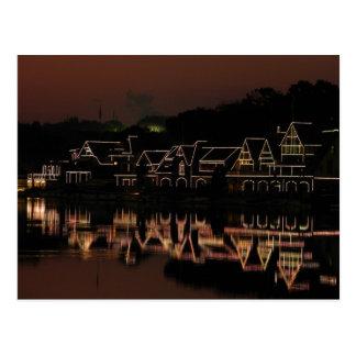 Cartão da fileira do Boathouse