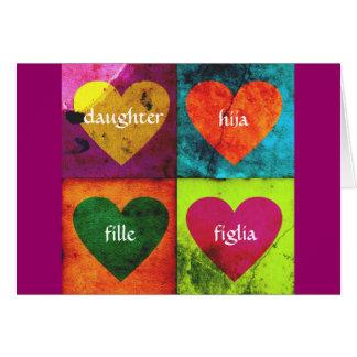 Cartão da filha dos namorados