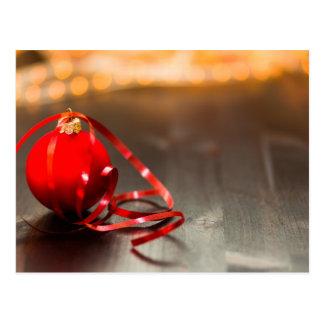 Cartão da fita dos enfeites de natal