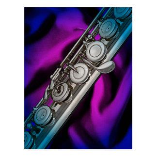 Cartão da flauta ou do Flutist ou cartão de envio
