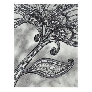 Cartão da flor 4 do espaço do carbono