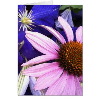 Cartão da flor cor-de-rosa do cone & do Clematis