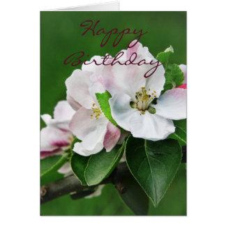 Cartão da flor da árvore de Apple