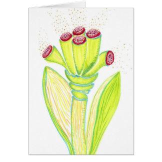 Cartão da flor da fantasia