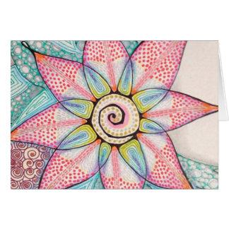 Cartão da flor da meditação (detalhe)