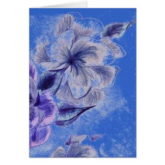 Cartão da flor da tinta