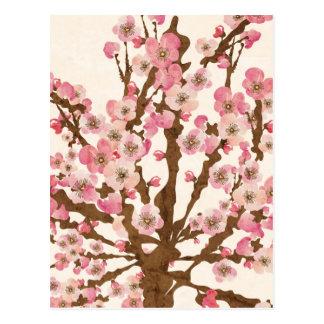 Cartão da flor de cerejeira cartão postal