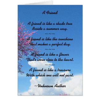 Cartão da flor de cerejeira da amizade