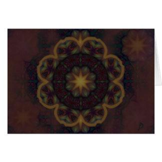 Cartão da flor de Sun da noite - personalizado