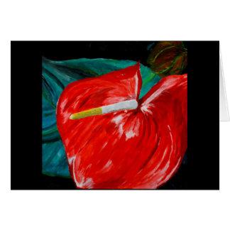 Cartão da flor do antúrio toda a ocasião